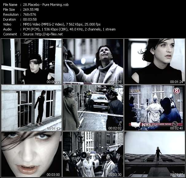 Screenshot of Music Video Placebo - Pure Morning