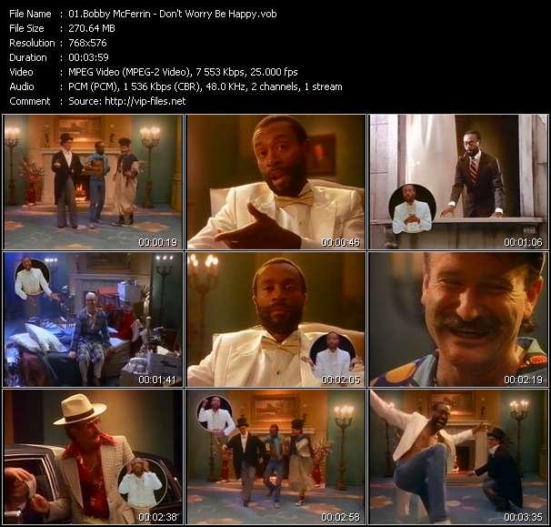 Screenshot of Music Video Bobby McFerrin - Don't Worry Be Happy