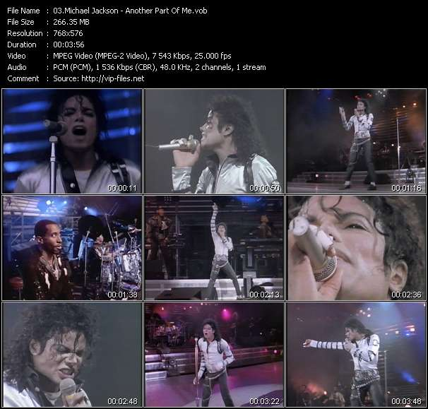 Screenshot of Music Video Michael Jackson - Another Part Of Me