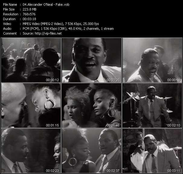 Screenshot of Music Video Alexander O'Neal - Fake