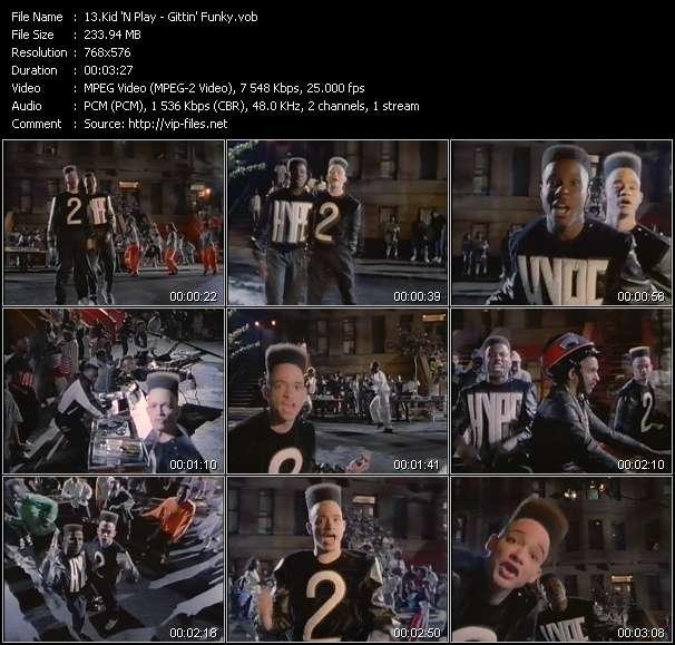 Screenshot of Music Video Kid 'N Play - Gittin' Funky