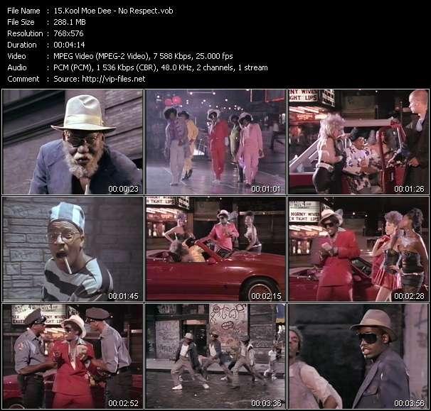 Screenshot of Music Video Kool Moe Dee - No Respect