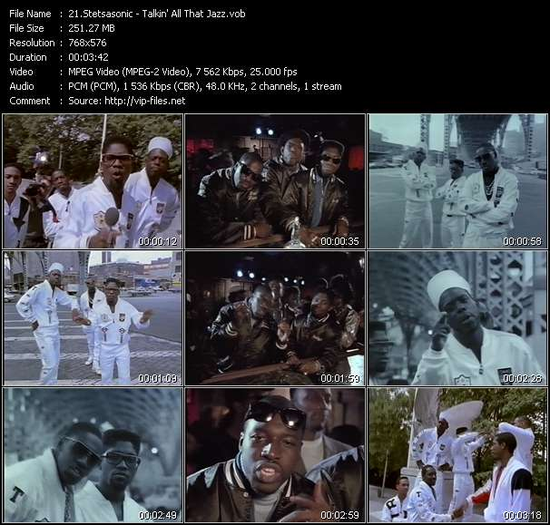 Screenshot of Music Video Stetsasonic - Talkin' All That Jazz