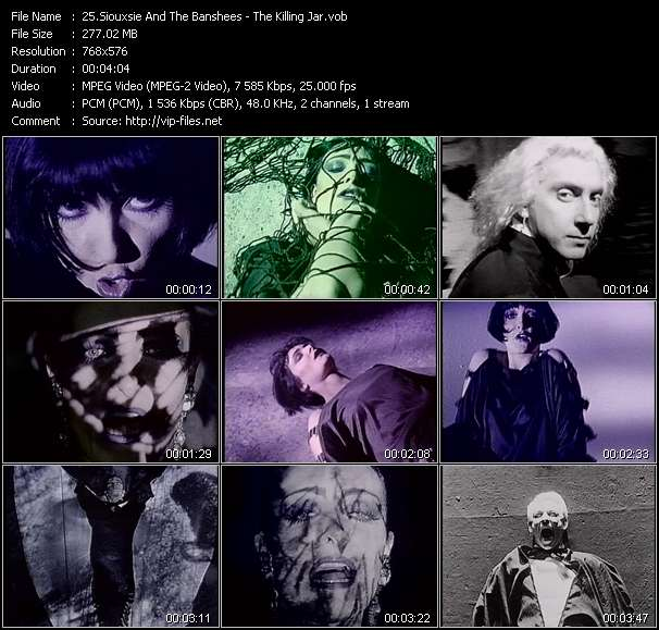 Screenshot of Music Video Siouxsie And The Banshees - The Killing Jar