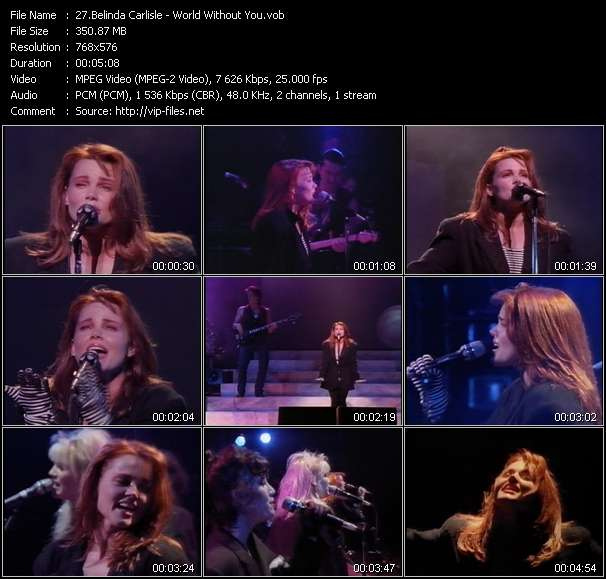 Screenshot of Music Video Belinda Carlisle - World Without You