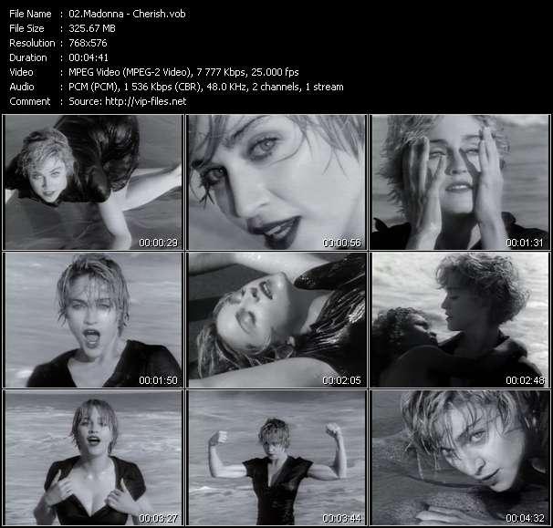 Screenshot of Music Video Madonna - Cherish