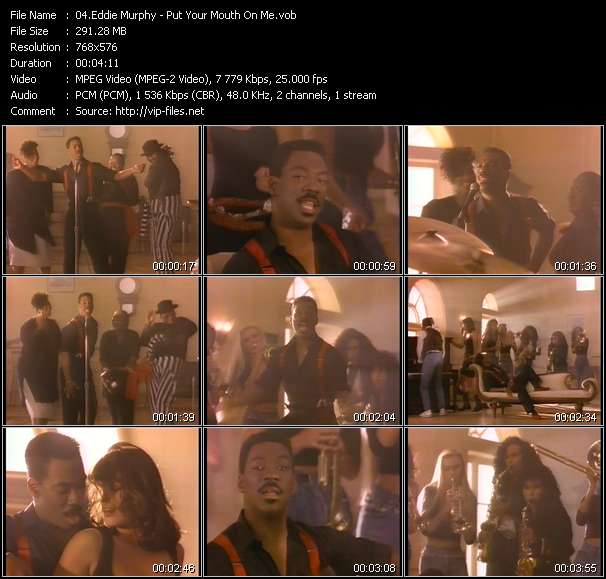 Screenshot of Music Video Eddie Murphy - Put Your Mouth On Me