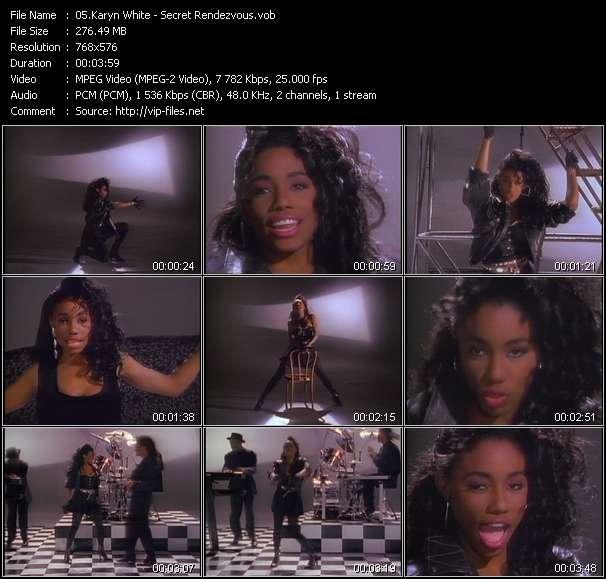 Screenshot of Music Video Karyn White - Secret Rendezvous