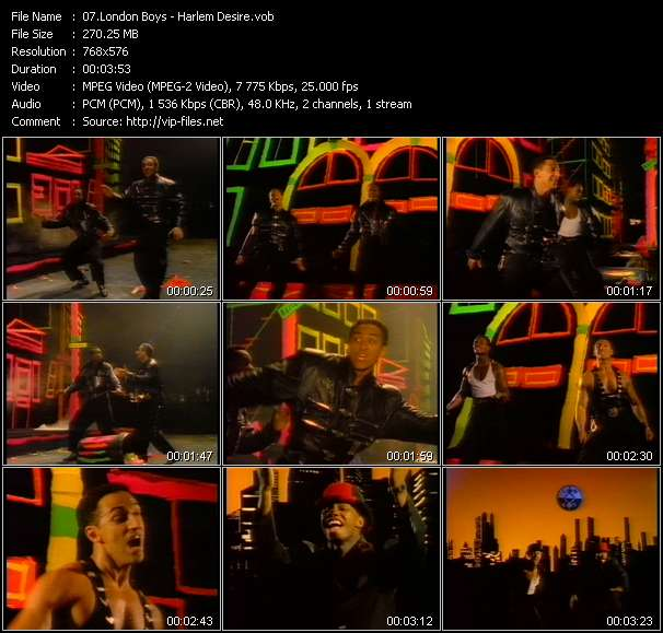 Screenshot of Music Video London Boys - Harlem Desire