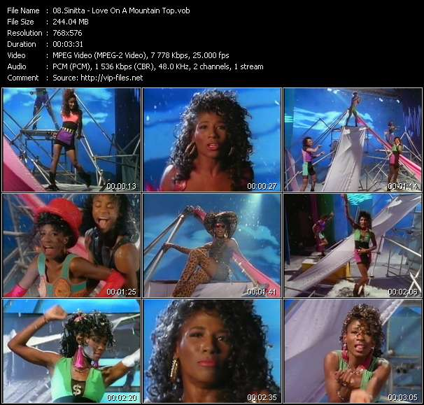Screenshot of Music Video Sinitta - Love On A Mountain Top