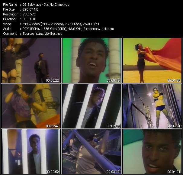 Screenshot of Music Video Babyface - It's No Crime