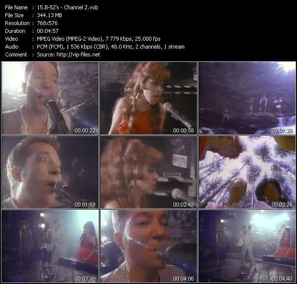 Screenshot of Music Video B-52's - Channel Z