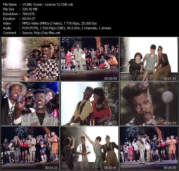 Screenshot of Music Video Billy Ocean - Licence To Chill