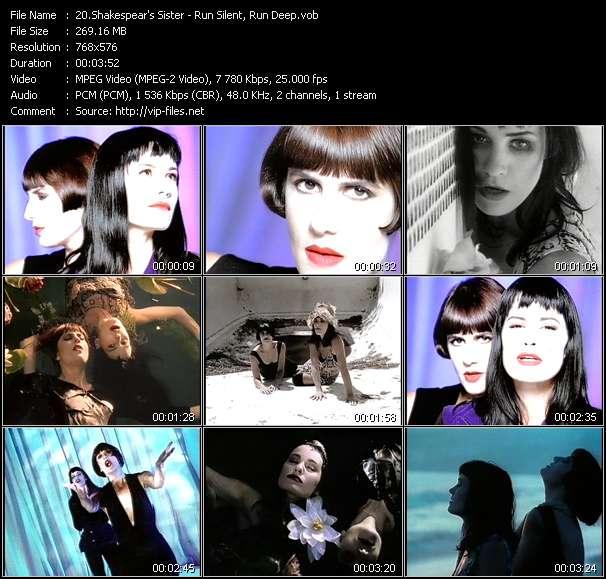 Screenshot of Music Video Shakespear's Sister - Run Silent, Run Deep
