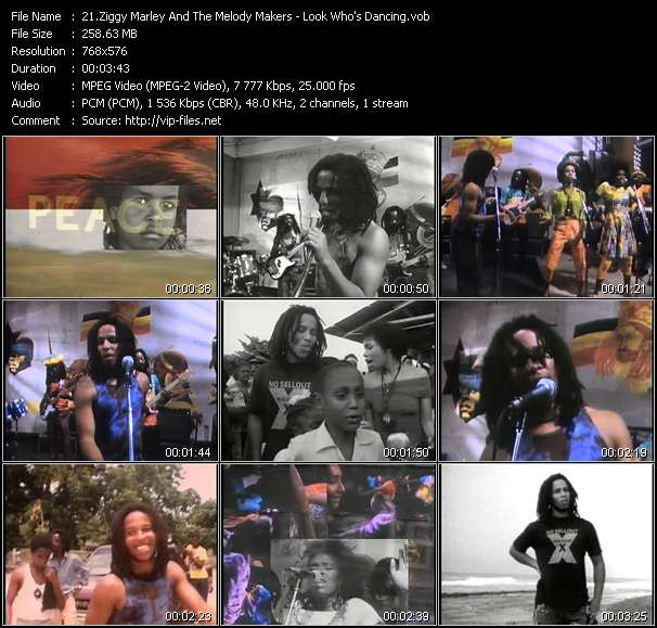 Screenshot of Music Video Ziggy Marley And The Melody Makers - Look Who's Dancing