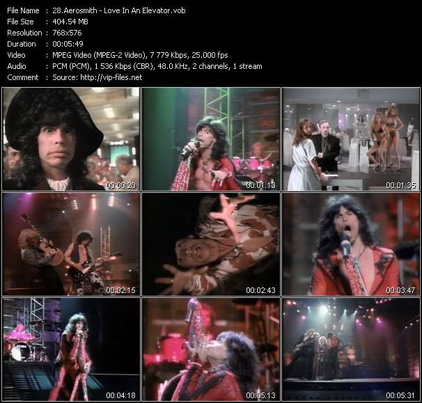Aerosmith video vob