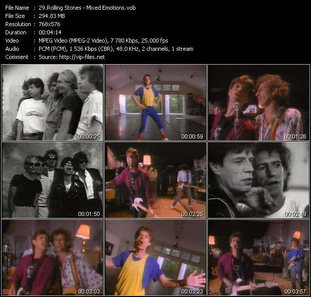 Screenshot of Music Video Rolling Stones - Mixed Emotions