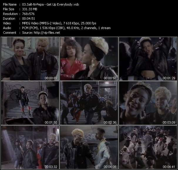 Screenshot of Music Video Salt-N-Pepa - Get Up Everybody