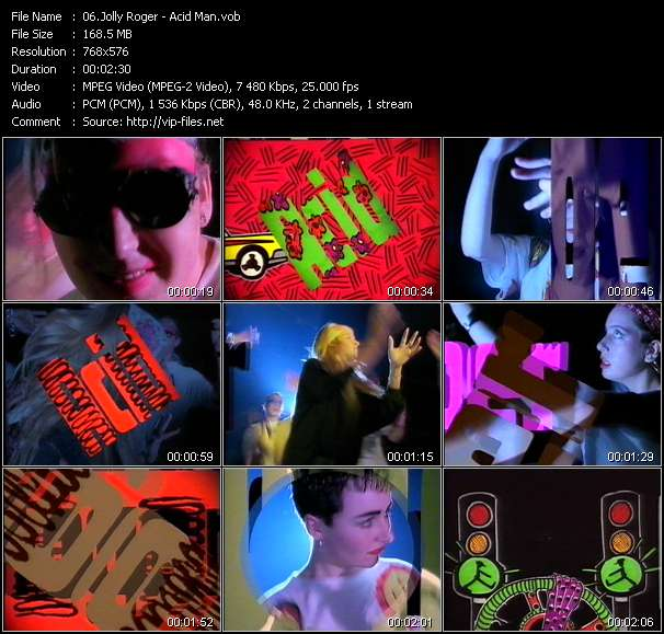 Screenshot of Music Video Jolly Roger - Acid Man