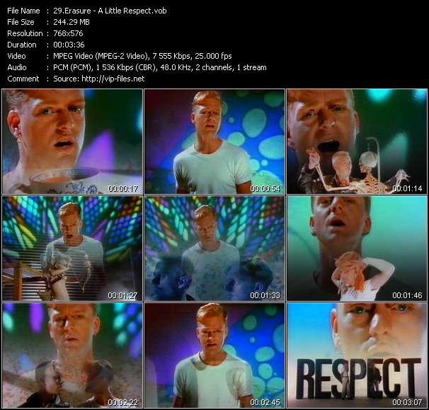 Screenshot of Music Video Erasure - A Little Respect
