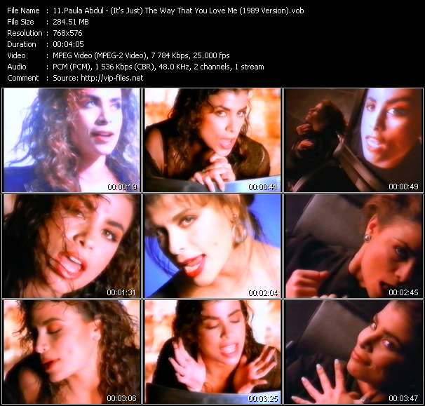 Screenshot of Music Video Paula Abdul - (It's Just) The Way That You Love Me (1989 Version)