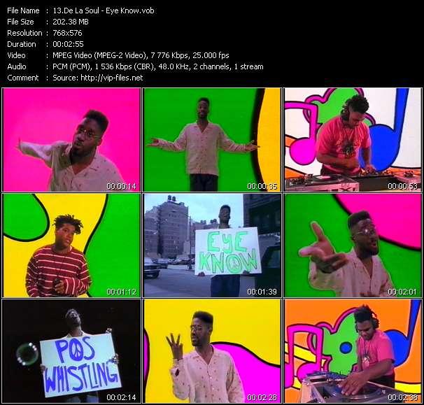 Screenshot of Music Video De La Soul - Eye Know