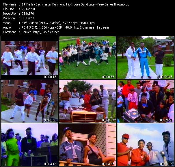 Screenshot of Music Video Farley Jackmaster Funk And Hip House Syndicate - Free James Brown