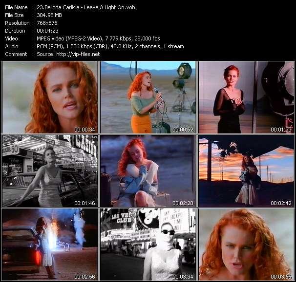 Screenshot of Music Video Belinda Carlisle - Leave A Light On