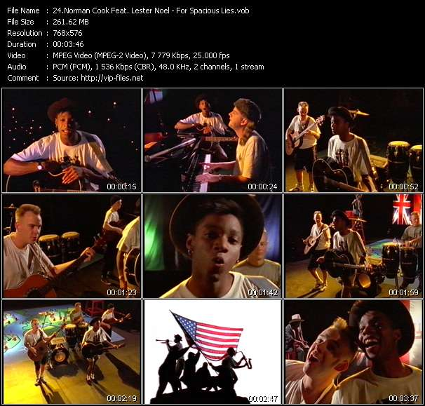 Screenshot of Music Video Norman Cook Feat. Lester Noel - For Spacious Lies