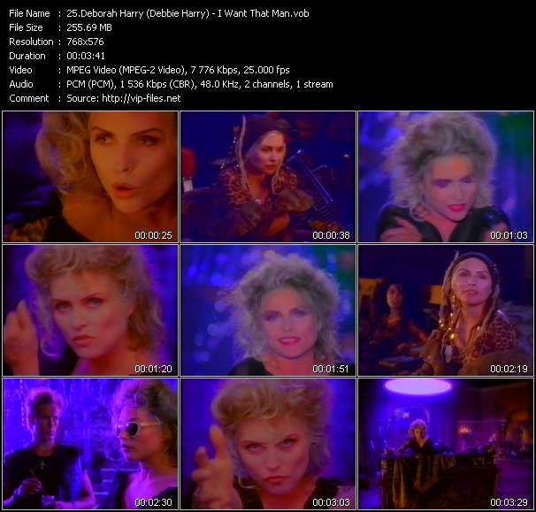Screenshot of Music Video Deborah Harry (Debbie Harry) - I Want That Man