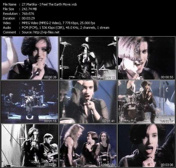 Screenshot of Music Video Martika - I Feel The Earth Move