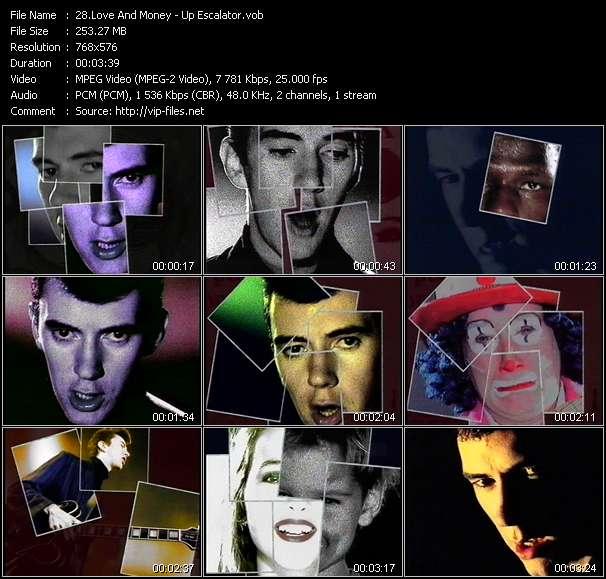Screenshot of Music Video Love And Money - Up Escalator