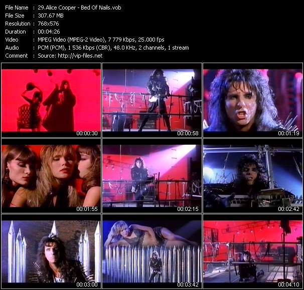 Screenshot of Music Video Alice Cooper - Bed Of Nails
