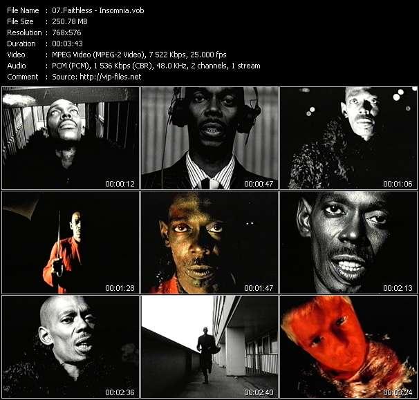 Screenshot of Music Video Faithless - Insomnia