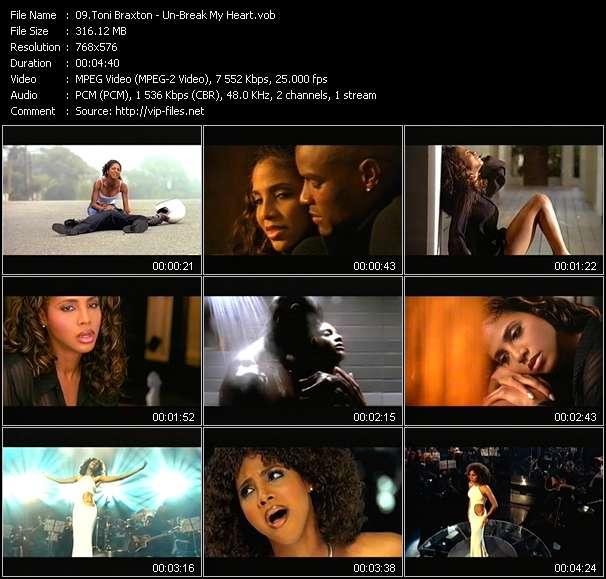 Screenshot of Music Video Toni Braxton - Un-Break My Heart