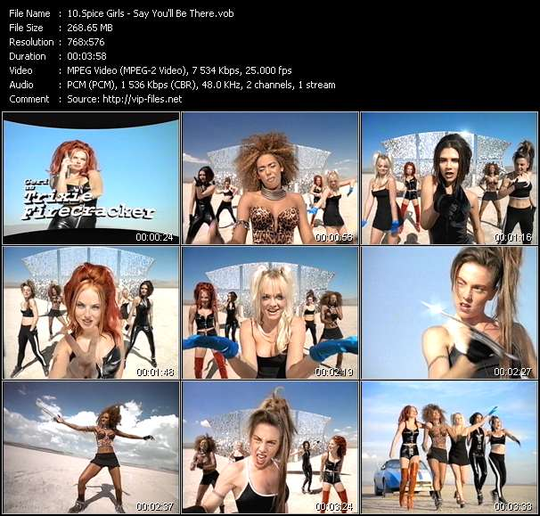 Screenshot of Music Video Spice Girls - Say You'll Be There
