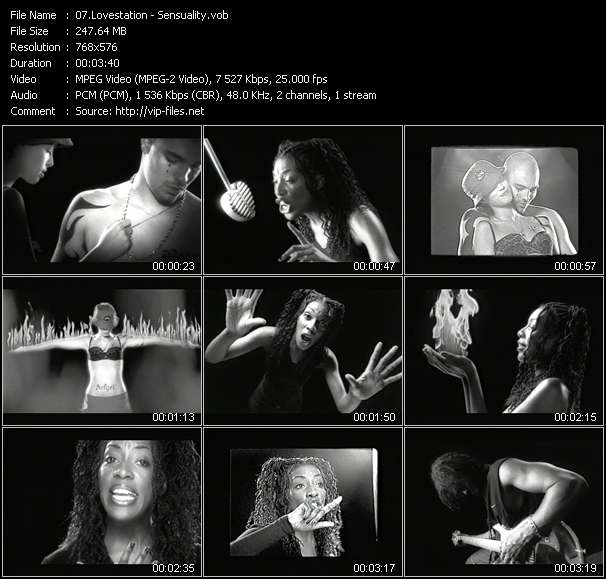 Screenshot of Music Video Lovestation - Sensuality