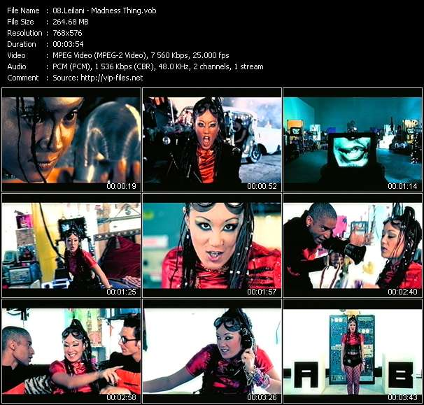 Screenshot of Music Video Leilani - Madness Thing