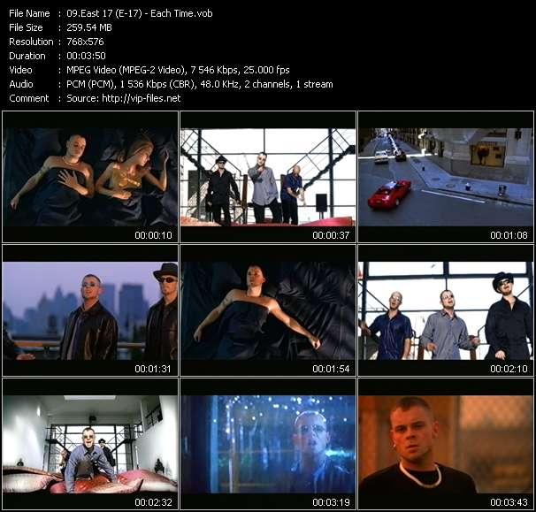 Screenshot of Music Video East 17 (E-17) - Each Time