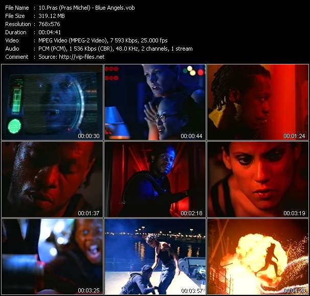 Screenshot of Music Video Pras (Pras Michel) - Blue Angels