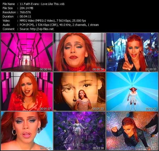 Screenshot of Music Video Faith Evans - Love Like This