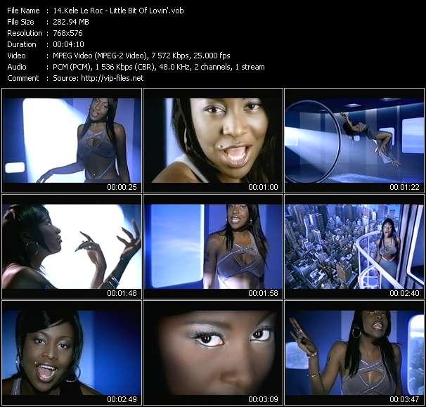 Screenshot of Music Video Kele Le Roc - Little Bit Of Lovin'