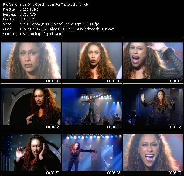 Screenshot of Music Video Dina Carroll - Livin' For The Weekend