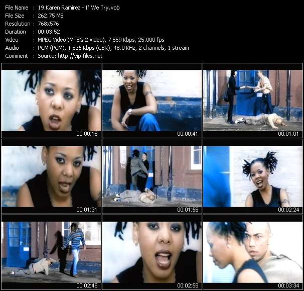 Screenshot of Music Video Karen Ramirez - If We Try