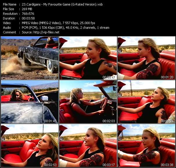Screenshot of Music Video Cardigans - My Favourite Game (G-Rated Version)
