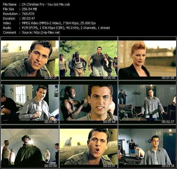 Screenshot of Music Video Christian Fry - You Got Me