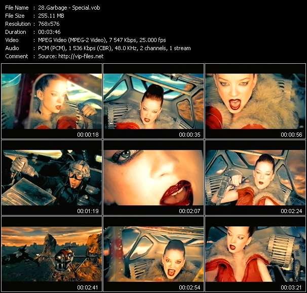 Screenshot of Music Video Garbage - Special