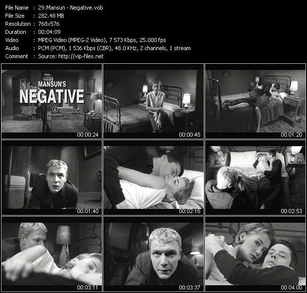 Screenshot of Music Video Mansun - Negative