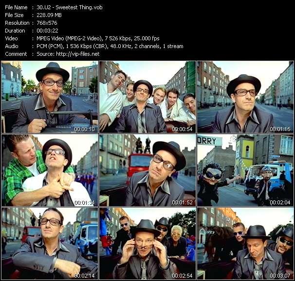 U2 clips musicaux vob