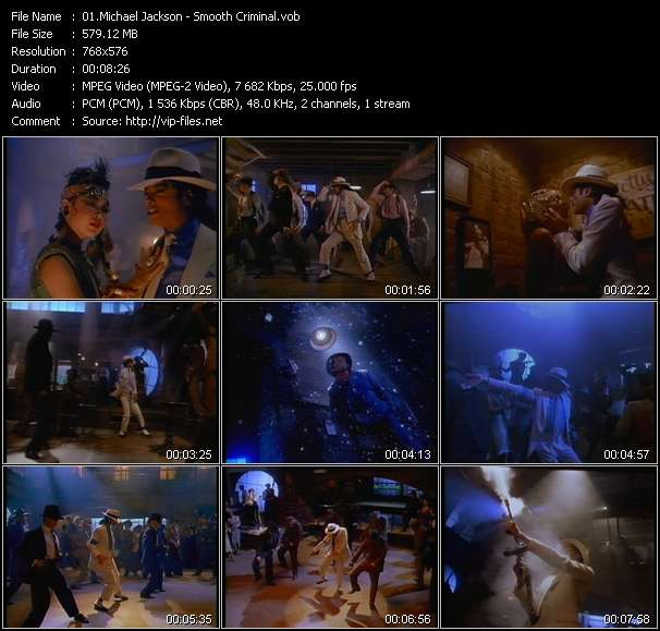 Screenshot of Music Video Michael Jackson - Smooth Criminal